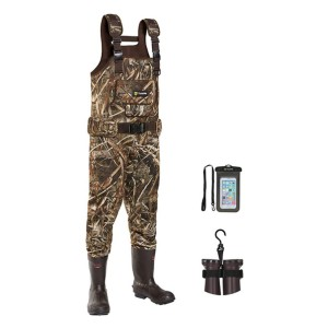 TideWe Realtree MAX5 Camo with 600G Insulation - Best Waders for Duck Hunting: Comes with a shell holder
