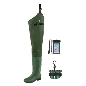 TideWe Hip Wader - Best Waders for Surf Fishing: Ground-gripping traction