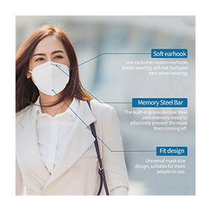 TINAWELLS 4 Layer Breathable Earlooped  - Best Masks for Glasses Wearers: Disposable Face Mask