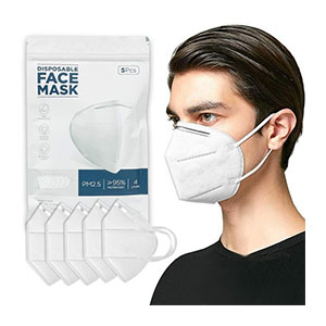 TINAWELLS 4 Layer Breathable Earlooped  - Best Masks for Glasses Wearers: 4 Layers Purification Mask