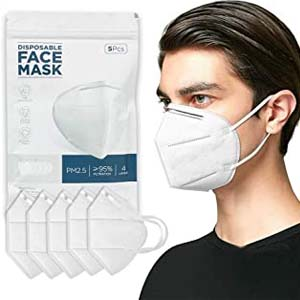 TINAWELLS 4 Layer Breathable Earlooped Design - Best Masks for COVID: A bowl-like design mask that will keep you safe