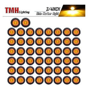 TMH Lighting 3/4-Inch Mount Amber LED Trailer Marker Lights - Best LED Side Marker Lights: 5 years warranty!