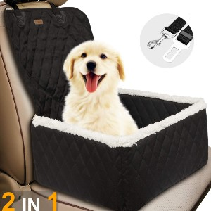 TOPBRY Car Front Seat Covers for Dogs - Best Dog Car Front Seat Covers: Two-in-one Car Seat Cover