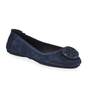 Tory Burch Mini Travel Suede Ballet Flats - Best Dressy Flats: Flats with Top Logo