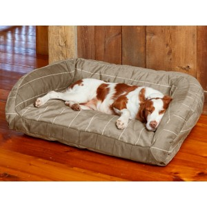 TOUGHCHEW® COMFORTFILL-ECO™ BOLSTER DOG BED - Best Dog Beds for Chewers: Dog Bed with Chew-Resistant Fabric
