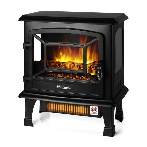 TURBRO Suburbs TS20 Electric Fireplace Infrared Heater - Best Electric Fireplace for Bedroom: Warm-up up to 1000 square feet