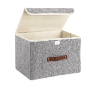 TYEERS Foldable Storage Bins 2 Pack Storage Boxes - Best Storage Containers for Books: Sturdy and comfy