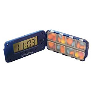 TabTime Super 8 Daily Pill Reminder with Timer - Best Pill Dispensers for Seniors: This will not stop flashing until you take the medicine