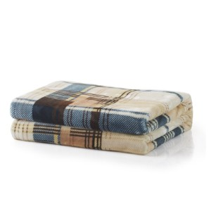 Tache Home Fashion Winter Cabin Flannel Blanket - Best Blanket for Cold Weather: Lightweight Flannel Blanket