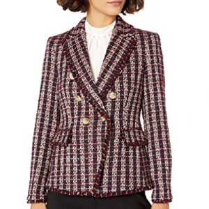 Tahari ASL Women's Double Breasted Jacket with Fringe - Best Blazers for Petites: Affordable Blazer
