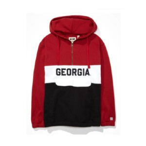 Tailgate  Georgia Bulldogs Anorak Hoodie - Best Hoodies for Women: Kangaroo Pocket with Flap Enclosure