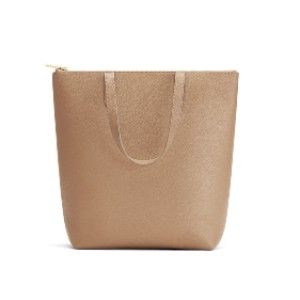 Cuyana Tall Structured Leather Zipper Tote - Best Tote Bag Designers: Crafted with a Top Zipper