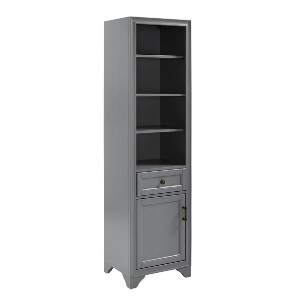 World Market Tall Wood Harper Linen Cabinet - Best Wardrobe for Small Bedroom: With Antique Bronze Finish