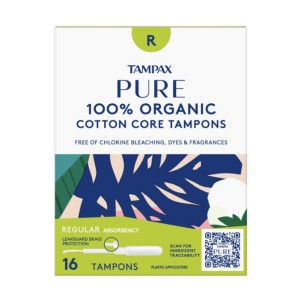Tampax Pure Organic Regular Absorbency Tampons - Best Organic Pads and Tampons: Easy to put and wear