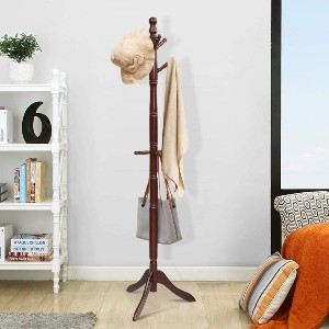 Tangkula Wood Coat Rack - Best Coat Rack Stand: Matches your vintage decor