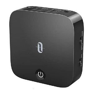 TaoTronics Bluetooth 5.0 Transmitter and Receiver - Best Bluetooth Transmitters for TV: No more lags and delays