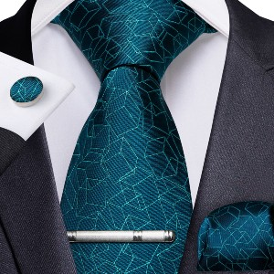 Dibangustore Teal Novelty  - Best Ties for Young Professionals: Luxurious set