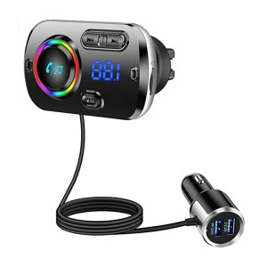 Tecboss Bluetooth FM Transmitter for Car - Best Bluetooth Audio Transmitters: Stay focus while driving