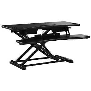 TechOrbits Standing Desk Converter - Best Standing Desk Converter for Tall Person: Two-Tiered Workstation