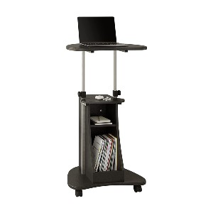 Techni Mobili Sit-to-Stand Rolling Adjustable Height Laptop Cart - Best Standing Desk for Back Pain: Small-Space Standing Desk