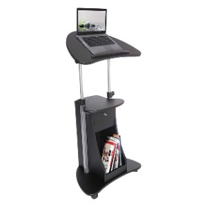 Techni Mobili Sit-to-Stand Mobile Medical Laptop Computer Cart - Best Standing Desk with Wheels: Minimalist Design Stand