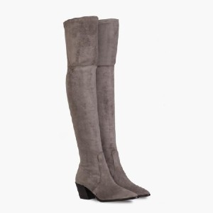 Thursday Boots Tempest - Best Boots for Women: Stacked Leather Heel with Anti-Slip Base