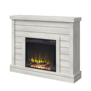 Laurel Foundry Modern Farmhouse® Terrence 47.38'' W Electric Fireplace - Best Electric Fireplace with Mantel: Four different finishes