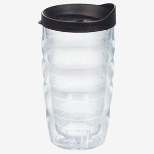 Tervis Clear Tumbler with Black Lid - Best Tumbler for Cold Drinks: Easy to seal without leaking