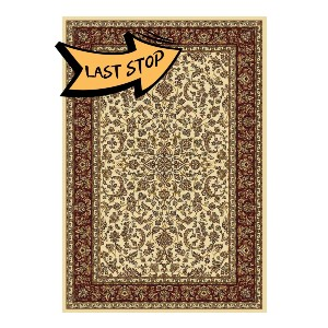 The Rug Truck 1318 Ivory Area Rug - Best Rug for Under Kitchen Table: Incredibly soft surface