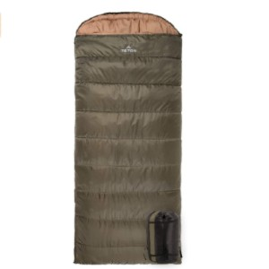 Teton Sports Regular Sleeping Bag - Best Sleeping Bags for Winter Camping: Sleeping bag with semicircular mummy model