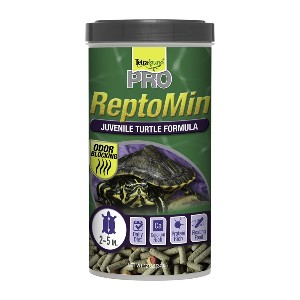 Tetra Tetrafauna Pro ReptoMin Juvenile Turtle Formula Sticks - Best Turtle Food for Red-Eared Slider: Extra Protein and Calcium