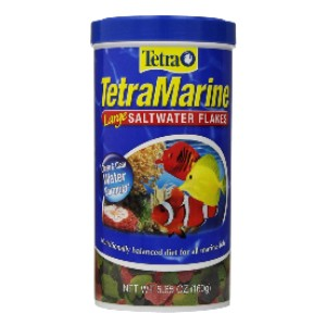 Tetra TetraMarine Large Saltwater Flakes - Best Food for Clownfish: Clean and Clear Water Formulation
