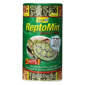Tetra ReptoMin Select-A-Food - Best Food for Turtle Growth: Three Different Meals in One Container