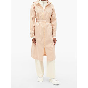 MICHELLE WAUGH The Amy coated cotton-blend raincoat - Best Raincoats Under 1000: Elasticated Belt with Back Slit