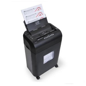 Hammacher Schlemmer The Auto-Feeding Micro-Cut Shredder - Best Paper Shredders for Small Businesses: Has Four LEDs to Signal