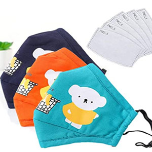 The Card Zoo Kids Reusable Mouth Cover With 6pcs activated carbon filter adjustable size - Best Masks for Kids: The Masks with Adjustable Size