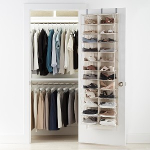The Container Store 24-Pocket Over the Door Shoe Organizer - Best Shoe Racks for Closets: Cube Design Hanging Storage Shoes