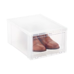 The Container Store Large Drop-Front Shoe Box - Best Sneaker Storage Boxes: Drop-Front Opening