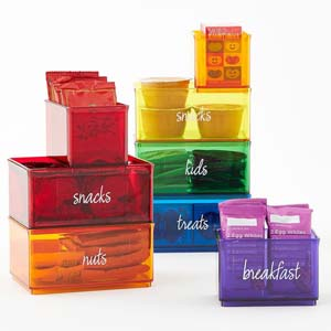The Home Edit Rainbow Organizer Bins - Best Food Storage Container: The kitchen becomes organized