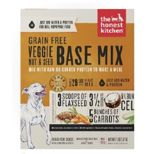 The Honest Kitchen Grain-Free Veggie, Nut & Seed Dehydrated Dog Food Base Mix - Best Dog Treats for Sensitive Stomachs: Perfect for Sensitive Stomach