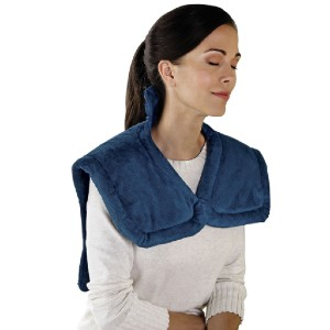 Hammacher Schlemmer The Neck and Shoulder Heat Wrap - Best Back Massager with Heat: Integrated Heating Element Delivers Even