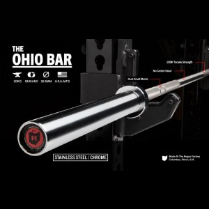 Rogue The Ohio Bar - Stainless Steel - Best Barbell for Home Gym: Best knurling