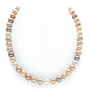 The Pearl Source Freshwater Multicolor Pearl Necklace - Best Pearl Necklace: Glamour Pearl Necklace