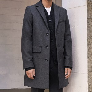 Everlane The ReWool Overcoat - Best Coats for Men: Single-Vent Back Construction