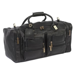 The Real Leather The Executive Duffel - Best Leather Duffel Bags: Multiple Compartments Duffel