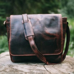The Real Leather Company The Kasilof - Best Leather Satchel: Full-Flap Satchel