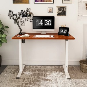 The Twillery Co.® Celestina Height Adjustable Standing Desk - Best Adjustable Standing Desk on a Budget: Wooden Tabletop Standing Desk