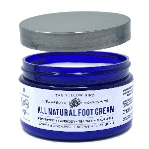 The Yellow Bird Natural Foot Cream - Best Foot Lotion for Calluses: Natural Cream