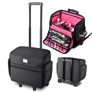 TheLAShop Rolling Makeup Case - Best Makeup Case for Travel: Lightweight and Large Capacity