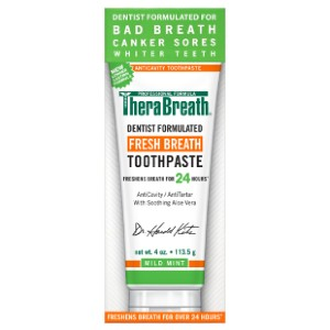 TheraBreath Dentist Recommended Fresh Breath Toothpaste - Best Toothpaste to Prevent Cavities: Tackles bad breath